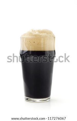 pint of dark beer isolated on white background Stock photo ©