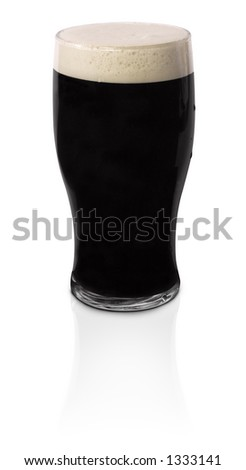 Pint of Stout Draft Beer