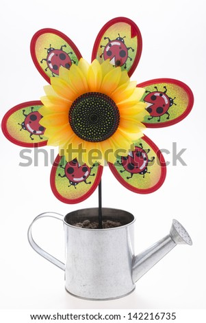 pinwheel with sunflower