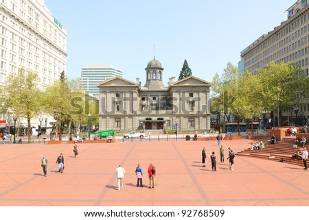 Pioneer Courthouse in Pioneer Square