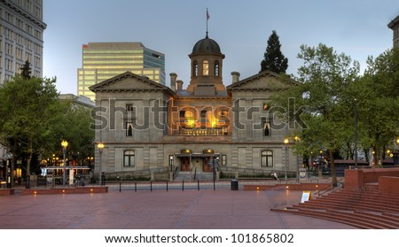 Pioneer Square Courthouse in Portland Oregon.