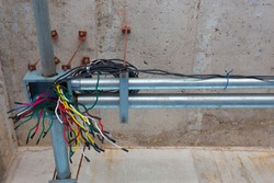 Pipe building wiring.