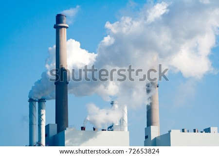 Pipe factory smoke emission