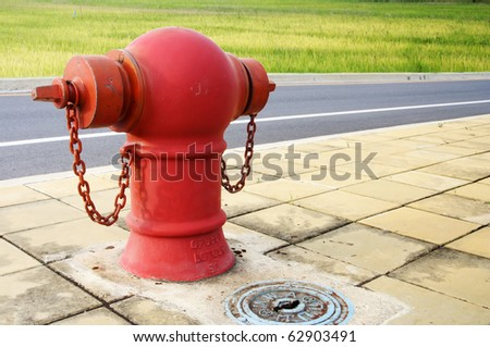 Pipe fittings in red street