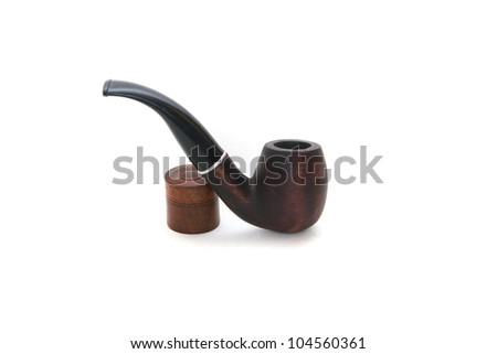 Pipe for tobacco on isolated background