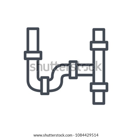 Pipe line renovation illustration raster icon