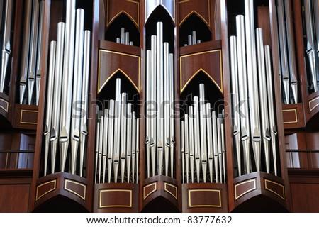 pipe organ in church in victoria, bc, canada