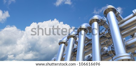 pipeline on a sky background