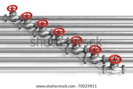 Pipeline with valves