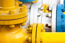 Pipelines Valves at gas plant