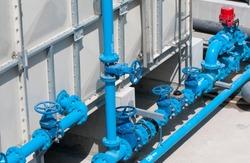 Pipes Along Water Tank