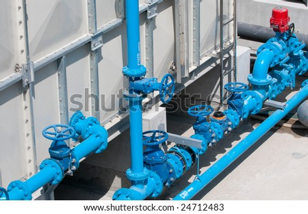 Pipes Along Water Tank