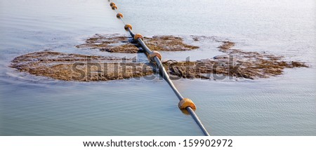 pipes and sediments in the dam of Danube river - Slovakia #159902972