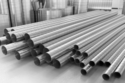 pipes from stainless steel, are used in ventilation systems