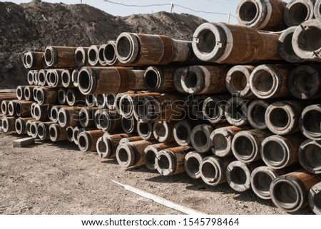 Pipes in the oil industry. Oil industry #1545798464