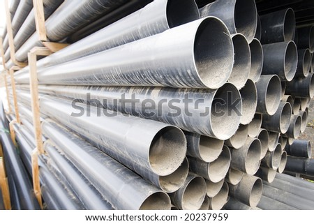 Pipes polymeric water round section