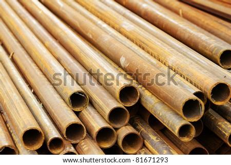 Pipes  rusty  iron  cut - stock photo