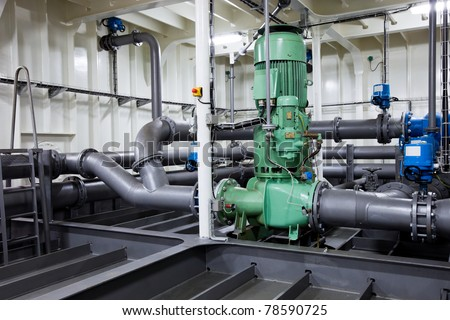Piping system and electric pump.