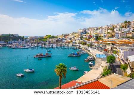 Piraeus, Athens, Greece. Mikrolimano harbour and yacht marina,