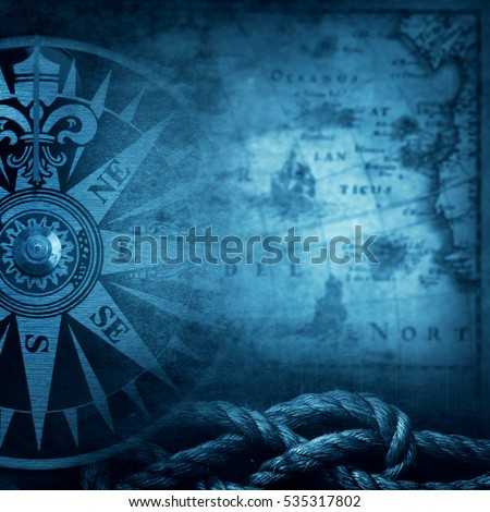 Pirate and nautical theme grunge background
