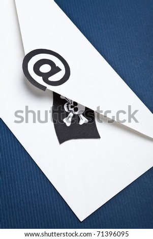Pirate Flag and e-mail, concept of E-Mail Security