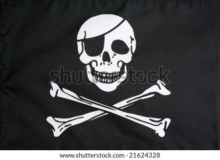 Pirate flag closeup