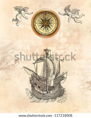 Pirate map illustration