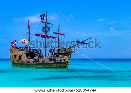 pirate ship in the caribbean