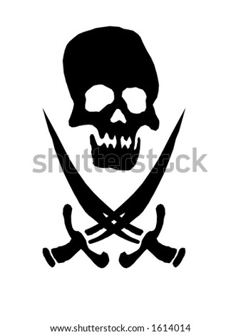 pirate sign on white background
