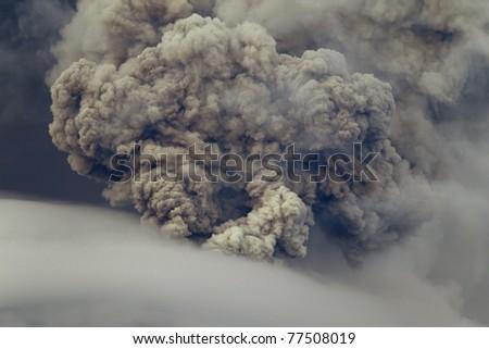 piroclastic explosion over Tungurahua volcano, May ,2011 Ecuador