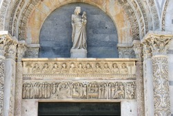 Pisa Baptistery Artwork over Doorway