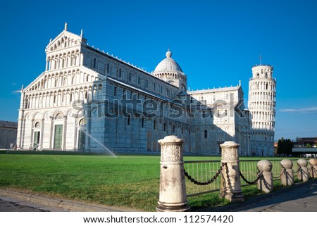 Pisa Cathedral and  Leaning Tower of Pisa