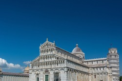 Pisa Cathedral is a medieval Roman Catholic cathedral dedicated to the Assumption of the Virgin Mary, in the Piazza dei Miracoli. It is a notable example of Romanesque architecture.