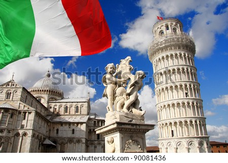 PISA famous Leaning Tower in Italy