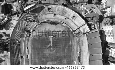 Pisa Stadium Arena Anconetani from the air, Tuscany - Italy.