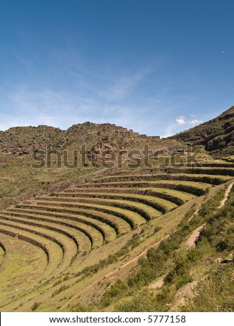 Pisac, Peruvian Terraced Landscape in the Sacred Valley