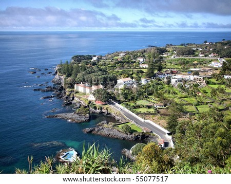 Pisao viewpoint in S. Miguel island, Azores - stock photo