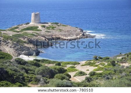 Piscin? tower, Teulada, Sardinia, Italy