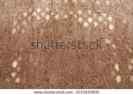 Pise wall with sunny flares, rural style background Foto stock ©