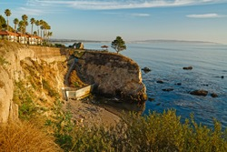 Pismo Beach Cliffs at sunset, California Coastline