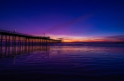 Pismo Beach Sunset with Vibrant Purple