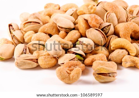 Pistachio and cashew nuts mixed