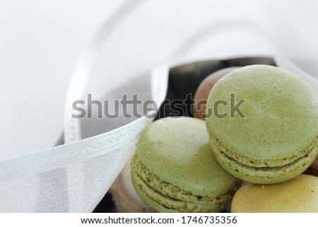 Pistachio green macaroon for french confectionery