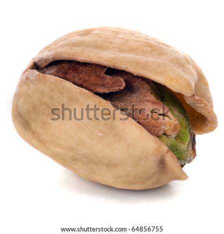 Pistachio nut isolated on white