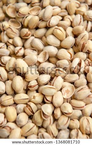 Pistachios. Salted pistachios. Pistachios in shell. pistachios close up. Pistachio background #1368081710