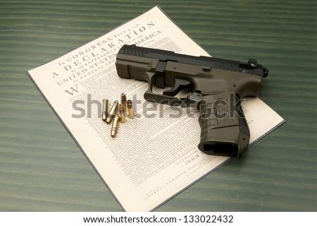 Pistol and Declaration.