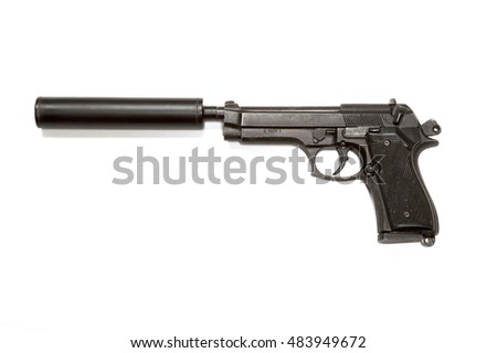 Pistol and silencer #483949672