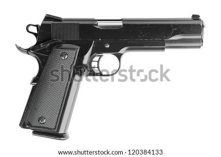 Pistol, isolated, no TM.