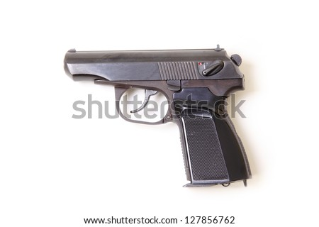 Pistol isolated on a white background. Makarov pistol