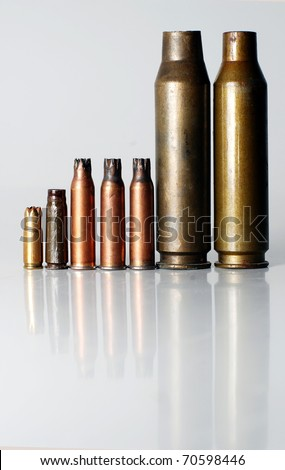 pistol rifle and machine gun cartridge case
